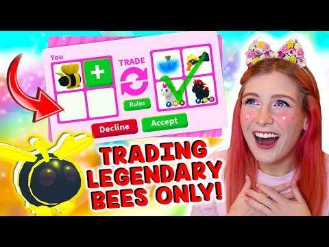 I ONLY Traded LEGENDARY BEES in Roblox Adopt Me! Adopt Me New BEE UPDATE!