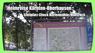 "Heimreise Kärnten-Oberhausen - Stellplatz ""Harfenmühle"" im Hunsrück"