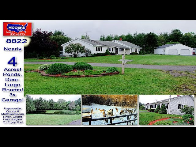 ME Real Estate, Home | Land For Sale. Near Lakes & River, Has Pond. MOOERS REALTY  #8822