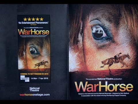 The National Theatre's War Horse. Promotion video for March 2018 at Nottingham Royal Concert Hall.
