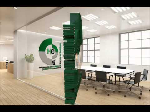 animated 3D Harris Commerce company logo