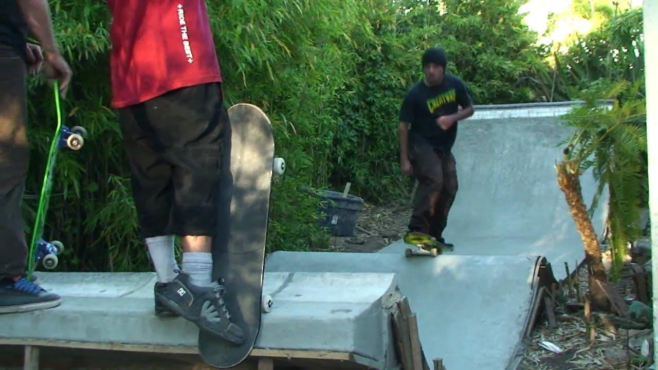 Santa Cruz Backyard DIY concrete skate contraptions - YouTube