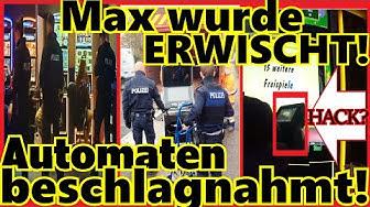 Polizei beschlagnahmt Spielautomaten - Manipulation in der Spielhalle MaximalEinsatz VIDEOÜBERWACHT?