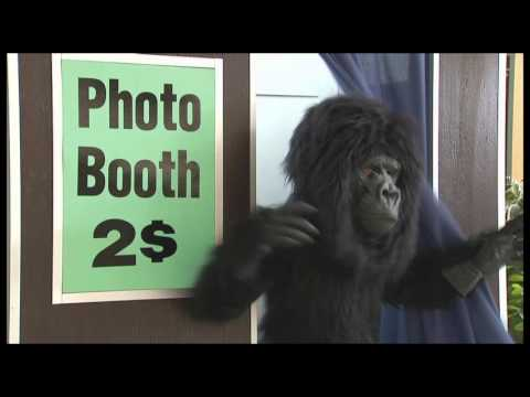 Gorilla Scares Photo Booth Customers