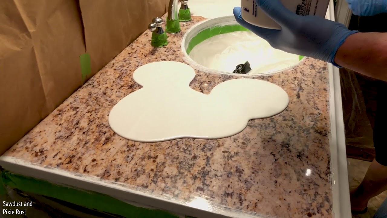 Epoxy Countertop Bathroom Vanity Marble Youtube