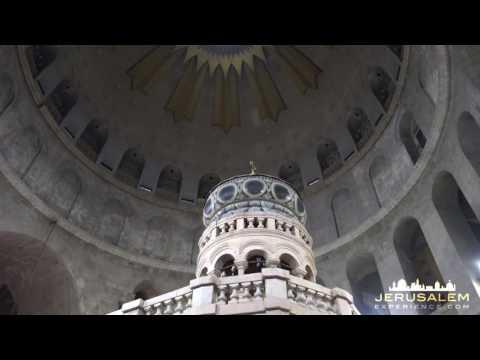 Tomb of Jesus - the Restroed Shrine (EDICULE) in JERUSALEM