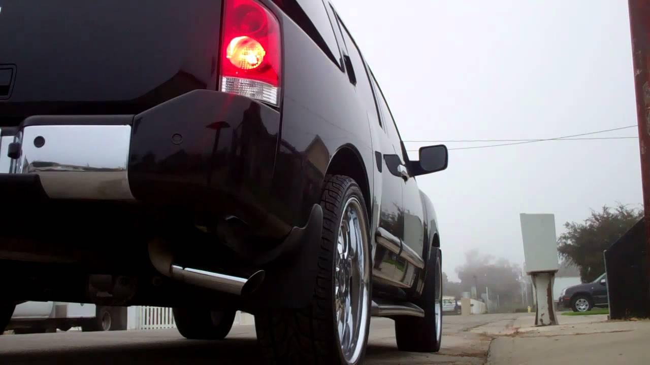 22 Quot Magnaflow Muffler On Stock Nissan Armada Exhaust