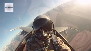 Incredible Cockpit Video: F-16 Fighter Jet Takeoff, In-flight Refueling