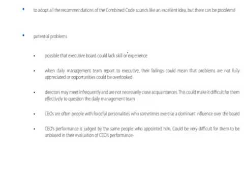 ACCA P1 Chapter 3 part b The Board of Directors