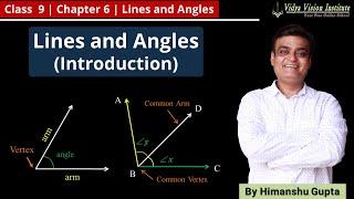 LINES & ANGLES    Part 1 - Introduction    NCERT - Class 9 - Mathematics    Hindi