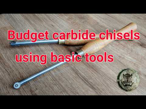 Woodturning carbide chisels on a budget using basic tools by AMC77