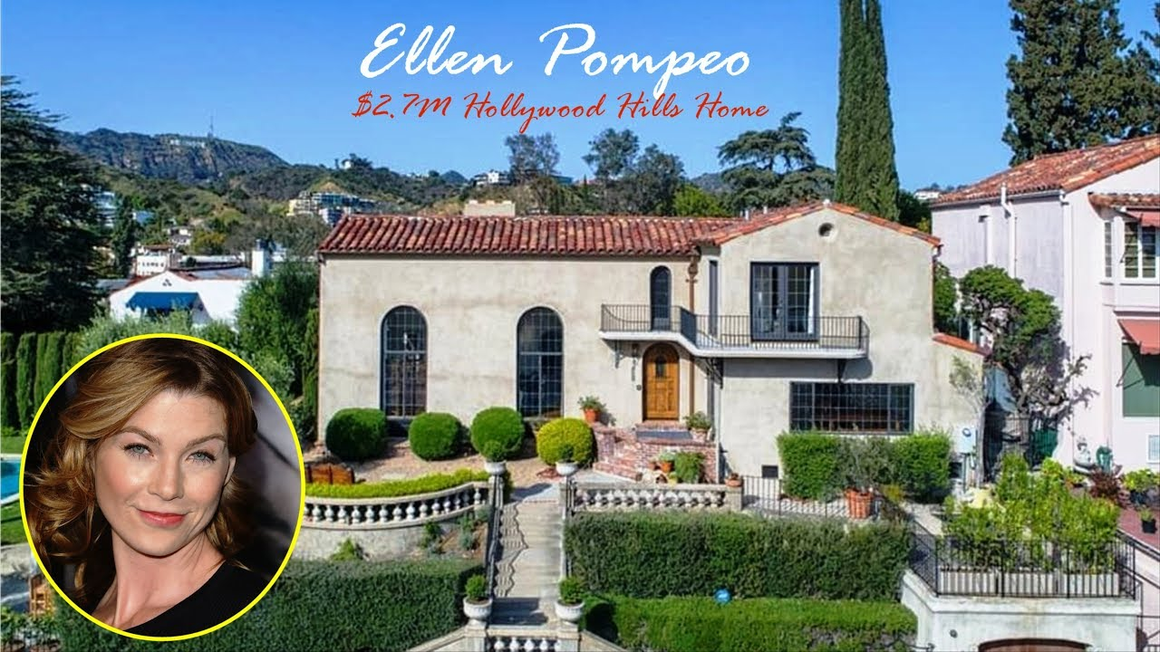 Ellen Pompeo 2 7m Whitley Heights Home In California Youtube