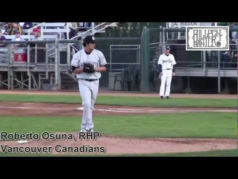 Roberto Osuna Prospect Video, Vancouver Canadians