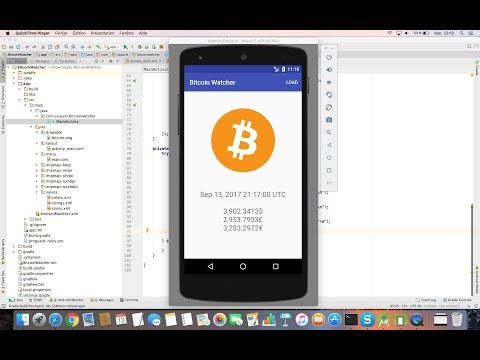 Learn to create a Bitcoin Price Index Watcher for Android