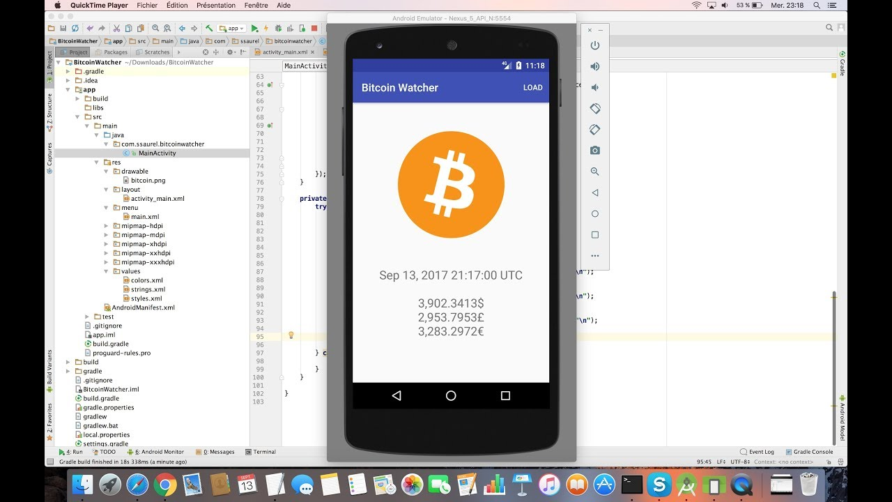 Learn To Create A Bitcoin Price Index Watcher For Android Youtube