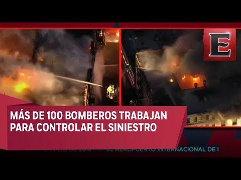 ÚLTIMA HORA: Reportan fuerte incendio en edificio de Manhattan