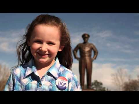 Macey Hensley visits Dwight D  Eisenhower Presidential Library Museum and Boyhood Home HD