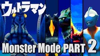ULTRAMAN PS2 GAME - Monster Mode Part 2 - Alien Baltan ( 1080P HD 60fps )