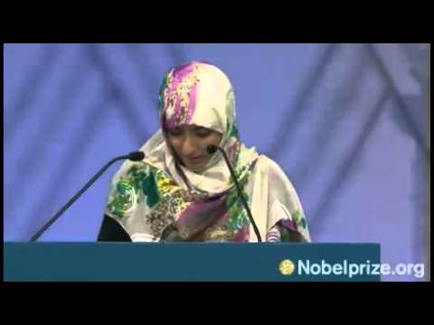 The Nobel Peace Prize Award Ceremony 2011 كلمة توكل كرمان# في إحتفال تسلمها لجائزة نوبل للسلام