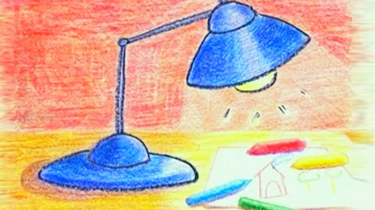 Learn How To Draw A Table Lamp
