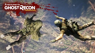 WHO WILL OPEN THEIR PARACHUTE LAST? Ghost Recon Wildlands New Beta Gameplay on PS4 Pro