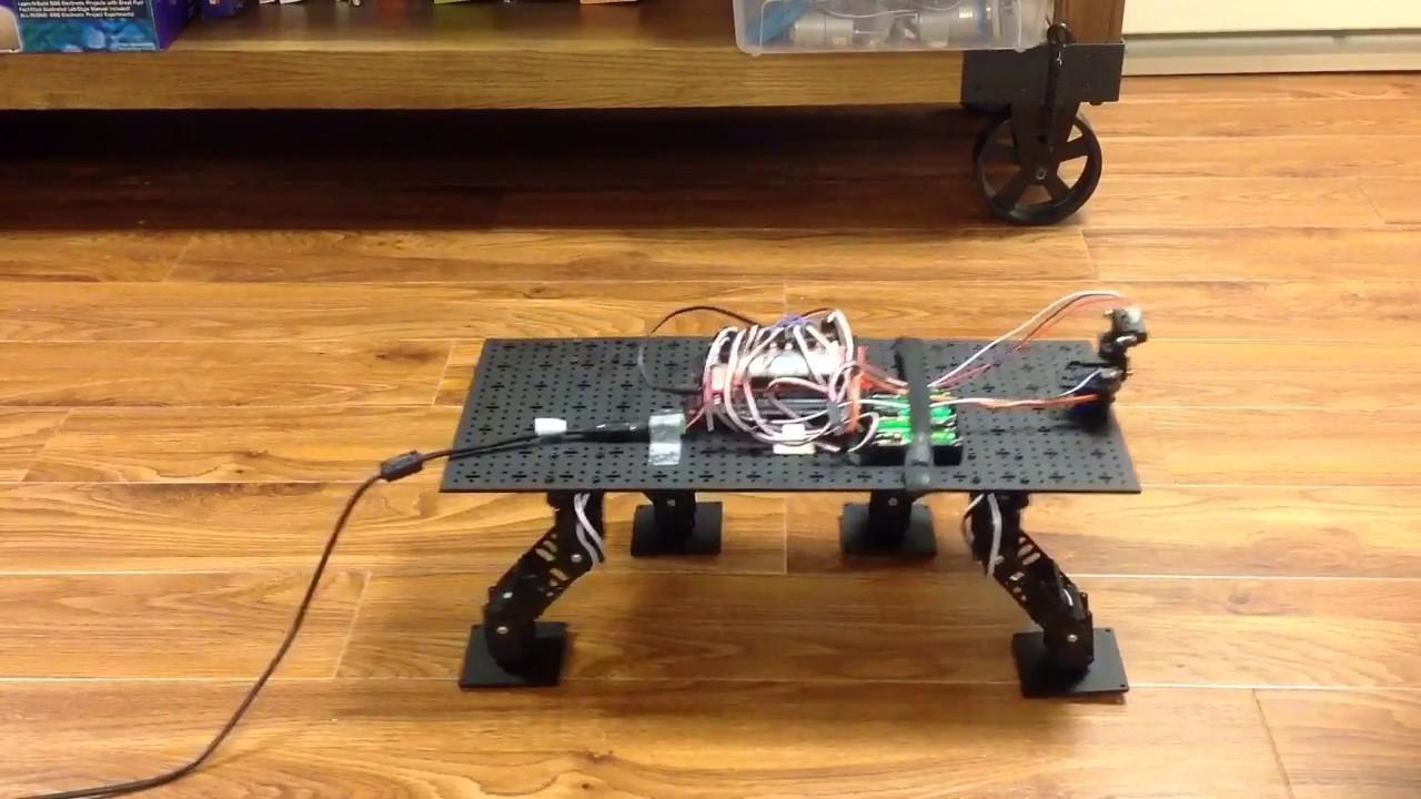 Arduino quadruped robot youtube