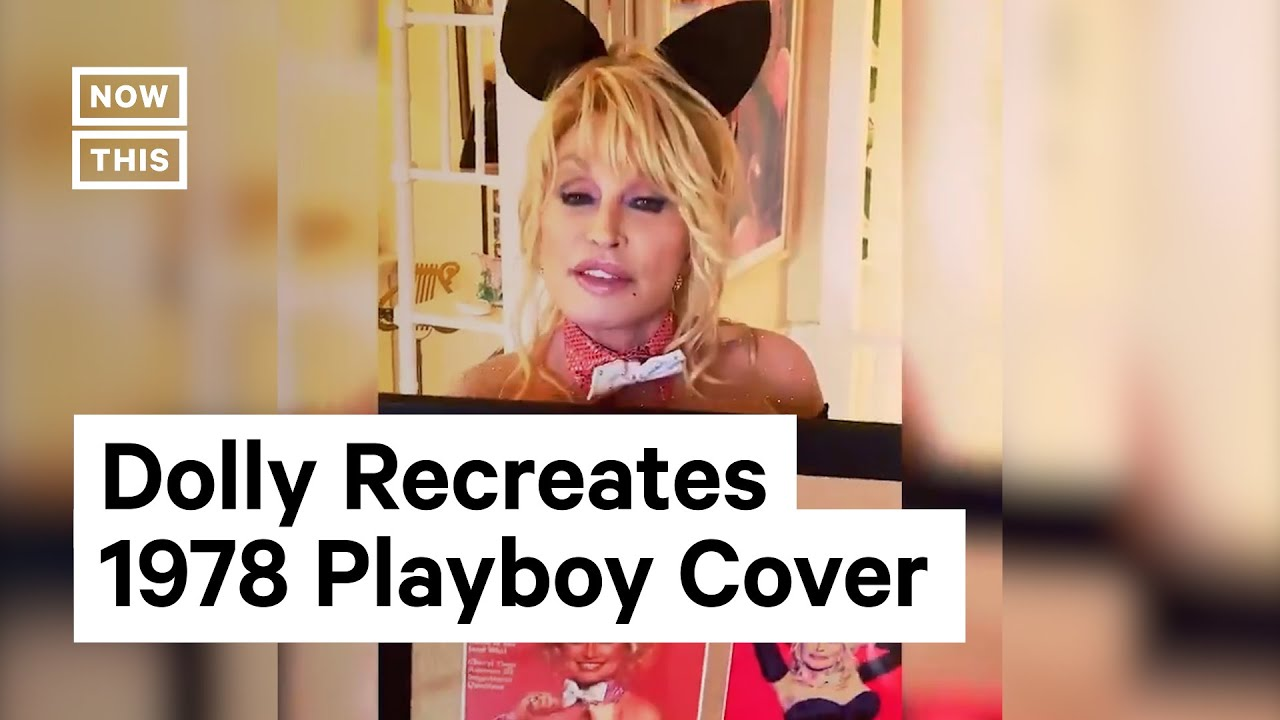 Dolly Parton recreates Playboy cover for her husband's birthday