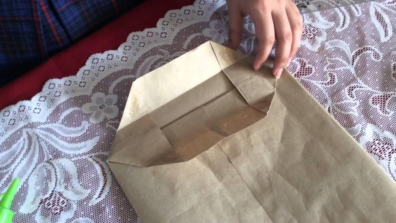 El rinc n del artesano bolsa de papel kraft youtube - Hacer bolsas de papel en casa ...