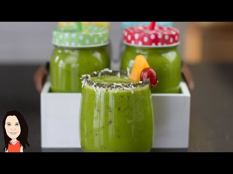 High Energy Green Smoothie – Great Iron & Calcium Rich Breakfast!