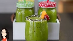 High Energy Green Smoothie - Great Iron & Calcium Rich Breakfast!