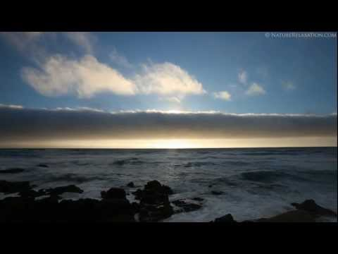 (Nature Relaxation Video) Pebble Beach Sunset - Carmel, California - 1080p HD Just Nature Sounds