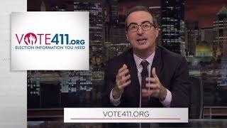 Last Week Tonight w John Oliver's Vote411.org Endorsement