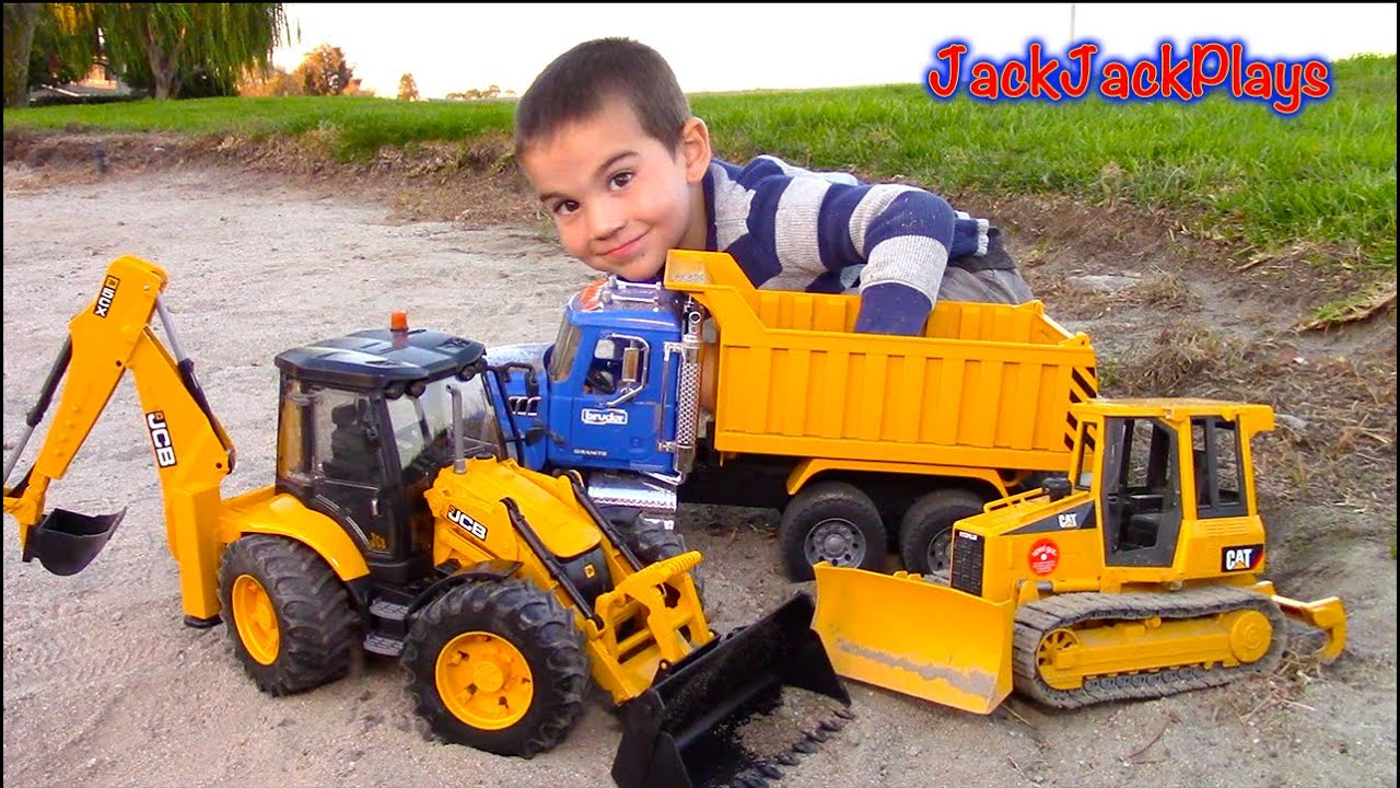 Bruder Toy Trucks For Kids Unboxing Jcb Backhoe Dump