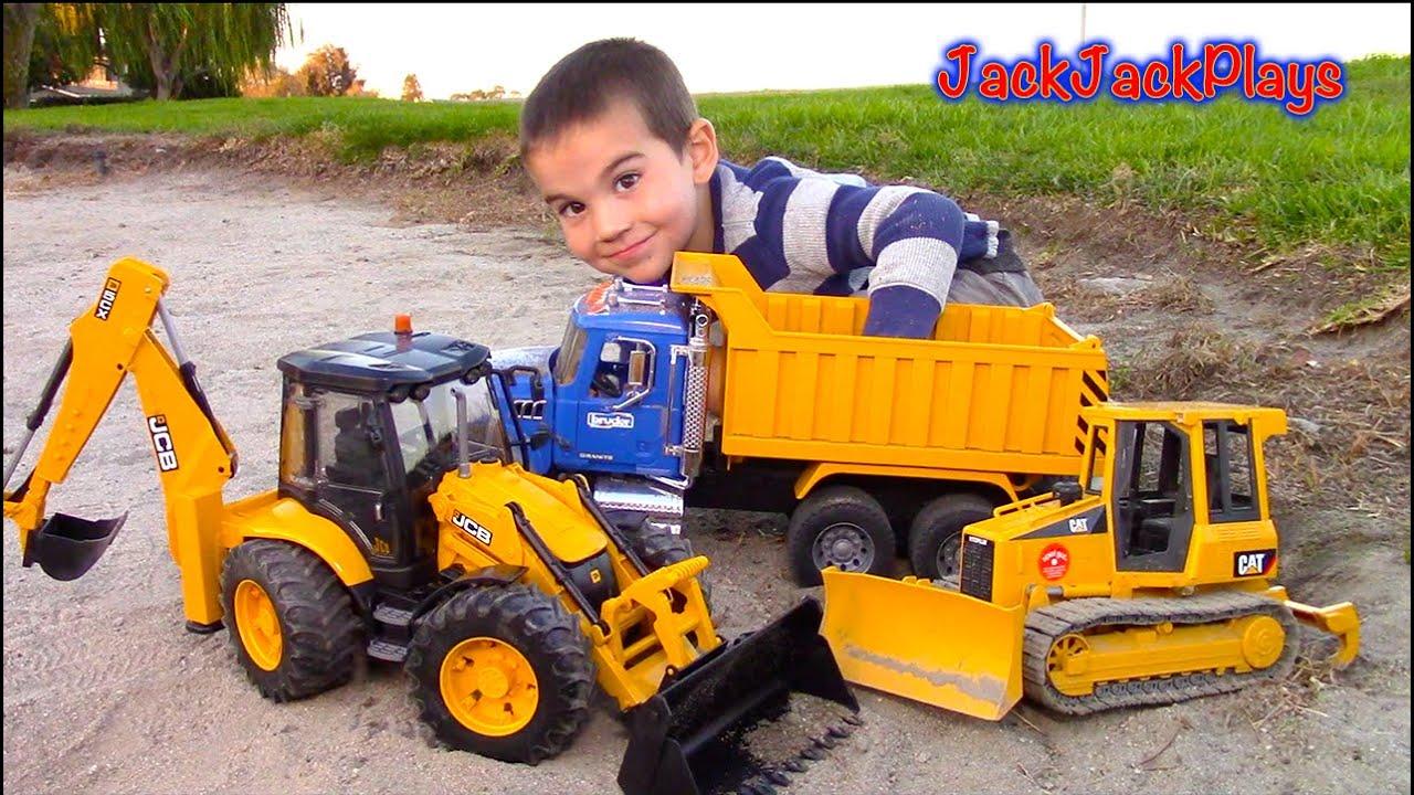 Bruder Toy Trucks For Kids Unboxing Jcb Backhoe Dump