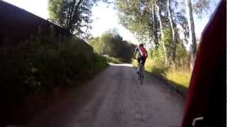 HD-S 720p 1280x720 солнце-тень, лес, с мотоцикла