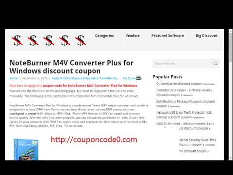 NoteBurner M4V Converter Plus Coupon Code