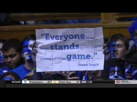 Duke UNC Moment of Silence