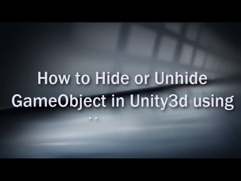 How to Hide or Unhide GameObject in Unity3d using Keypress