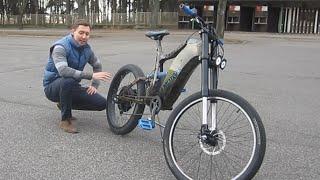 Электровелосипед своими руками 26 Bike Emotors(Электровелосипед мощьностью 1000 ватт, батарея 48 в 12 ач. дальность пробега 30-60 км, максимальная скорость до..., 2016-01-31T09:09:54.000Z)