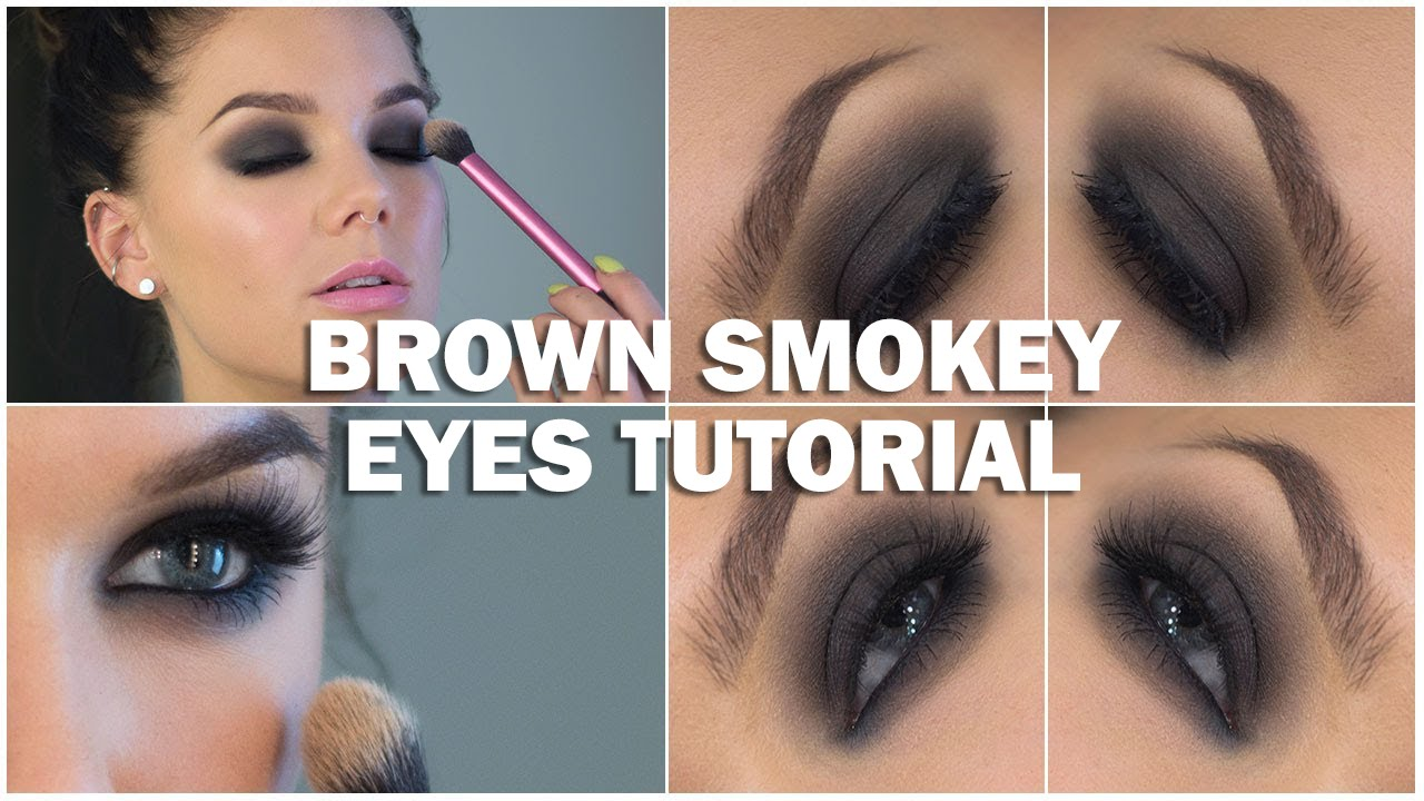 Brown smokey eyes tutorial (with subs)
