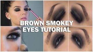 brown smokey eyes tutorial with subs linda hallberg makeup tutorials