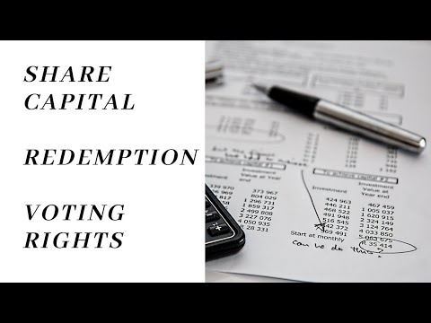 Part 2 // Share Capital// Redemption/ Voting rights/ Company law/ CA,Cs ,bcom/LLB / CORPORATE