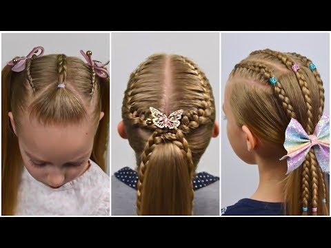 3 Cute Back To School Hairstyles For Girls |  Cute Hairstyle Ideas |  Hair Tutorial | LittleGirlHair