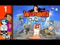 Let's Play Worms W.M.D Part 1 - The Skillshot Weapon