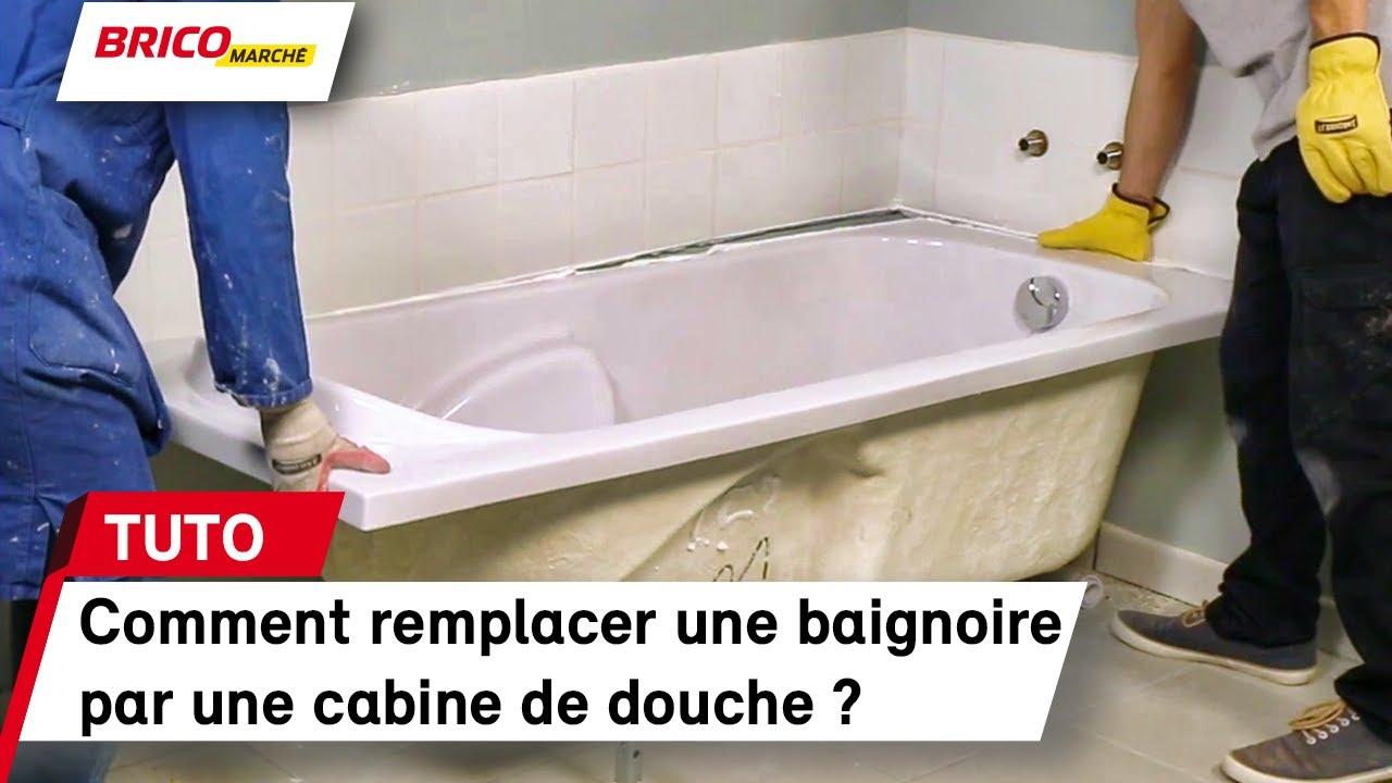 Comment remplacer une baignoire par une cabine de douche - Remplacer une baignoire par une douche ...