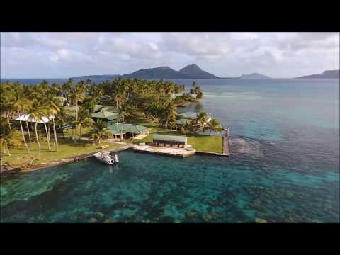 Flying over Chuuk Blue Lagoon Resort  with Bebop drone2