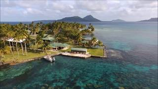 Flying over Chuuk Blue Lagoon Resort  with Bebop d...