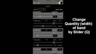 Studio Music Player: using 48 band equalizer