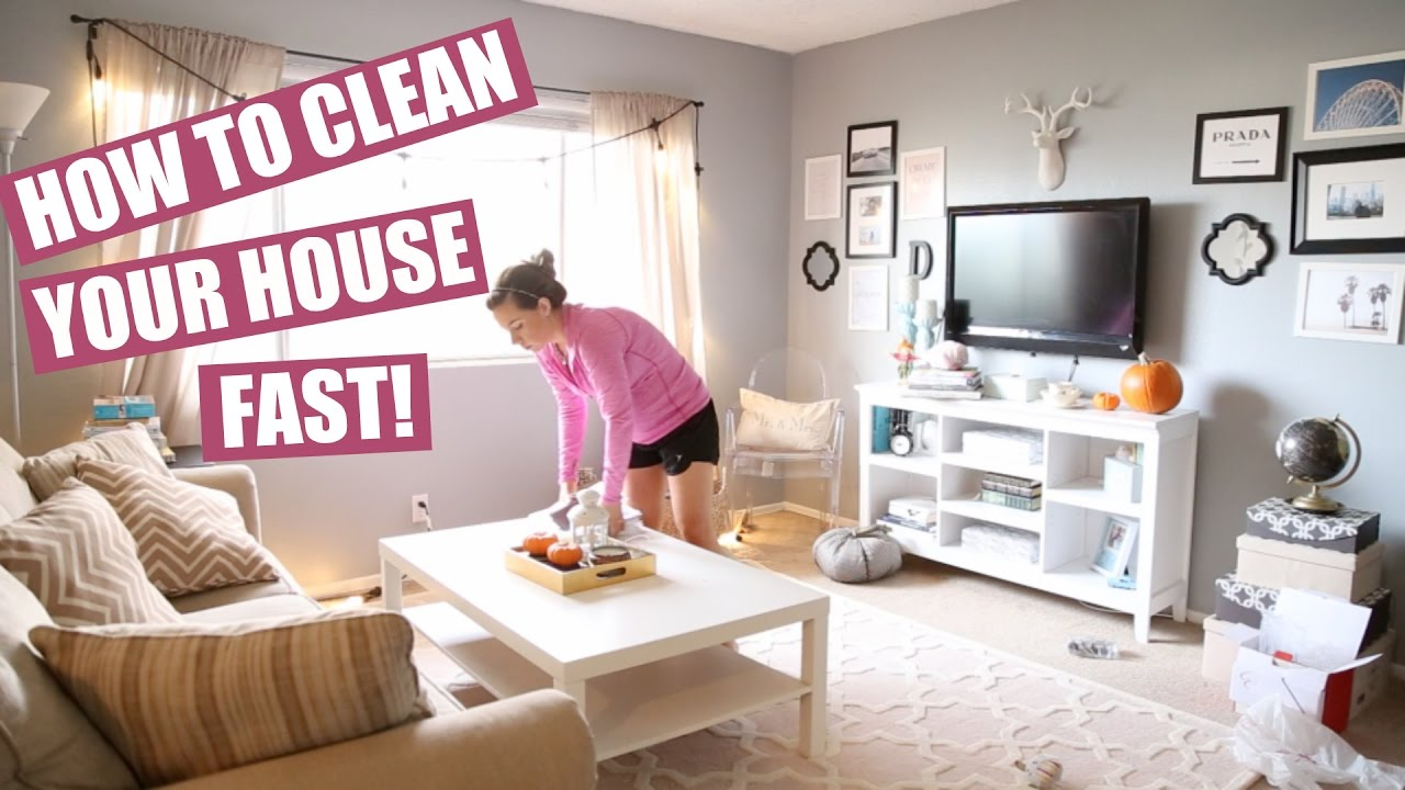 How To Clean The House how to clean your house fast: clean with me! | hayley paige - youtube