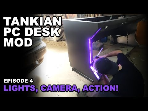 ULTIMATE DESK PC DIY BUILD with 2 METERS!!! - EPISODE 4: LIGHTS, CAMERA, ACTION